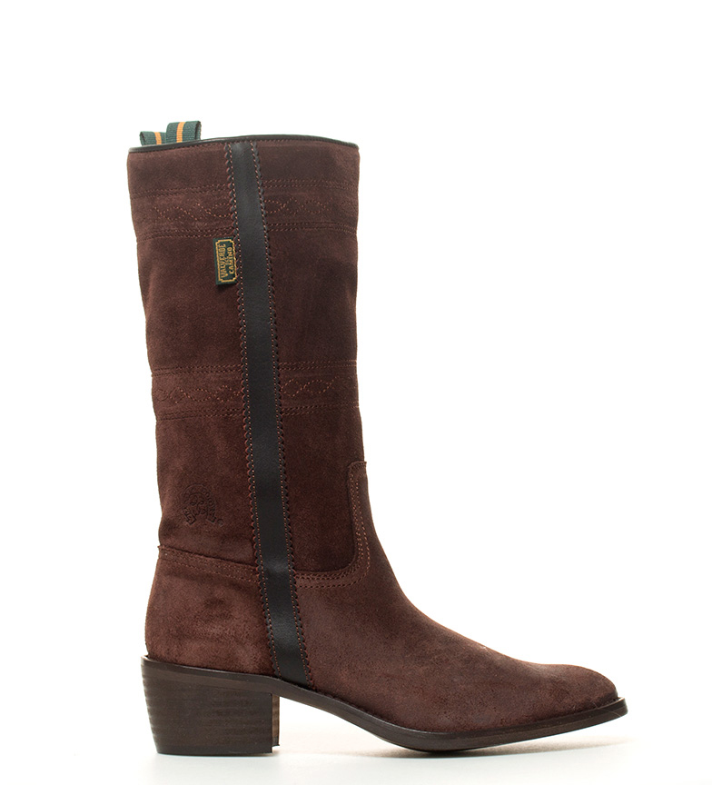 Comprar DAKOTA BOOTS Cowhide leather jacket in brown leather-Atura heel: 4,5cm-