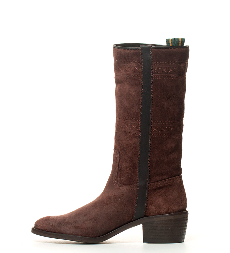 tacón marrón i Bota color DAKOTA Atura BOOTS grasatto 5cm piel en i 4 de campera wqCAnCx57