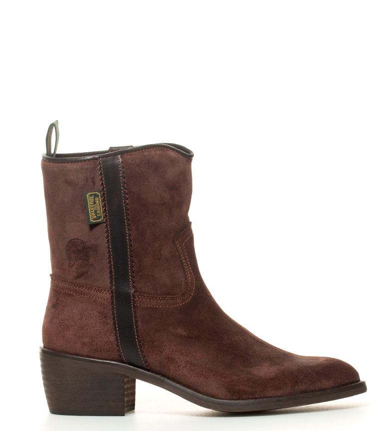Comprar DAKOTA BOOTS Bota campera en piel grasatto de color marrón -Atura tacón: 5,5cm-