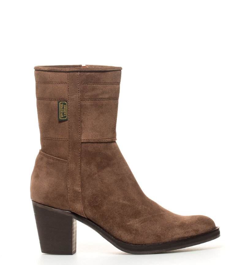 Comprar DAKOTA BOOTS Cowhide leather jacket in brown leather -Actuation heel: 7cm-