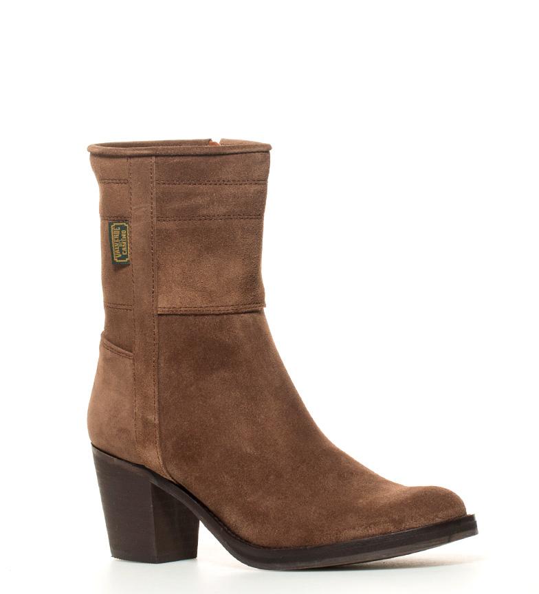 Boots Tacn7cm De grasatto Dakota En Bota Piel Campera Color Marrnatura 6b7gfy