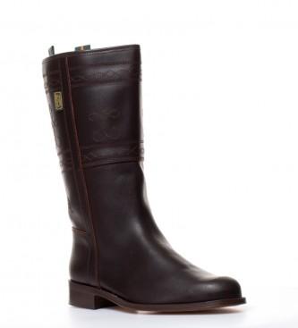 De Color Castaa Bota En Boots Dakota Piel Engrasada Campera nw0kPO