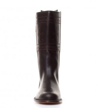 Mejor elección Dakota Boots - Bota campera engrasada en piel de color castaña Precios Precio de fábrica 1QMGhgUyH6