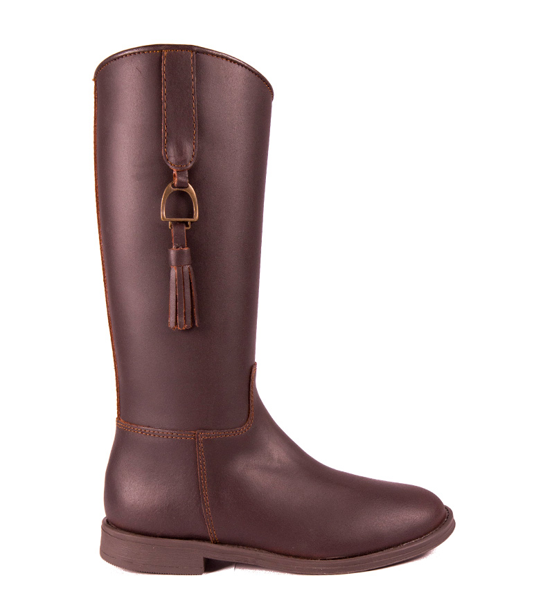 Comprar DAKOTA BOOTS Leather boot in chestnut color