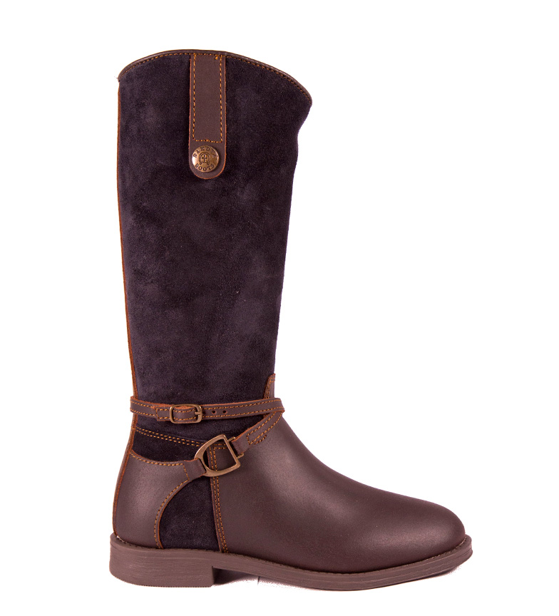 Comprar DAKOTA BOOTS Bottes en cuir marron, bleu marine
