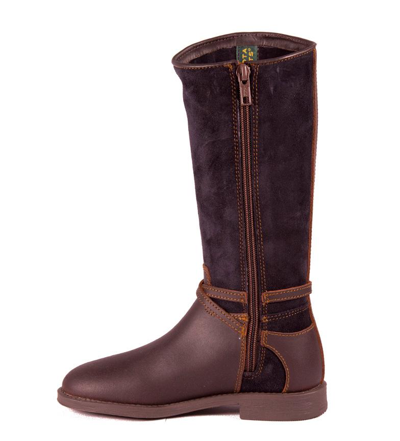 Piel Color De CastaaMarino Boots Dakota Bota En L5A34Rj
