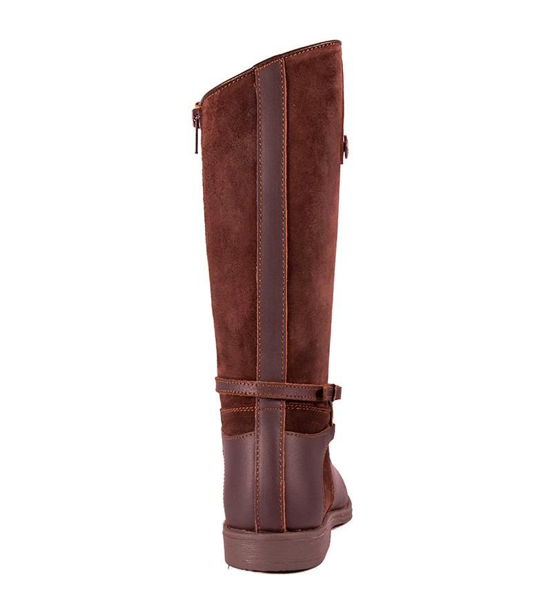 Dakota Boots - Bota de piel en color castaña, testa
