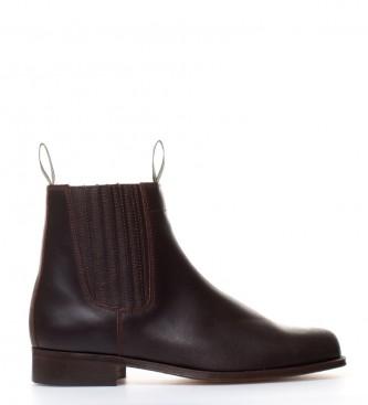 Comprar DAKOTA BOOTS Botte en cuir couleur marron huilés moulé