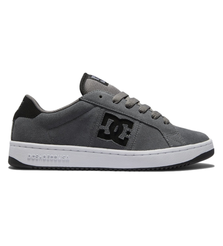 DC Shoes Striker grey leather sneakers