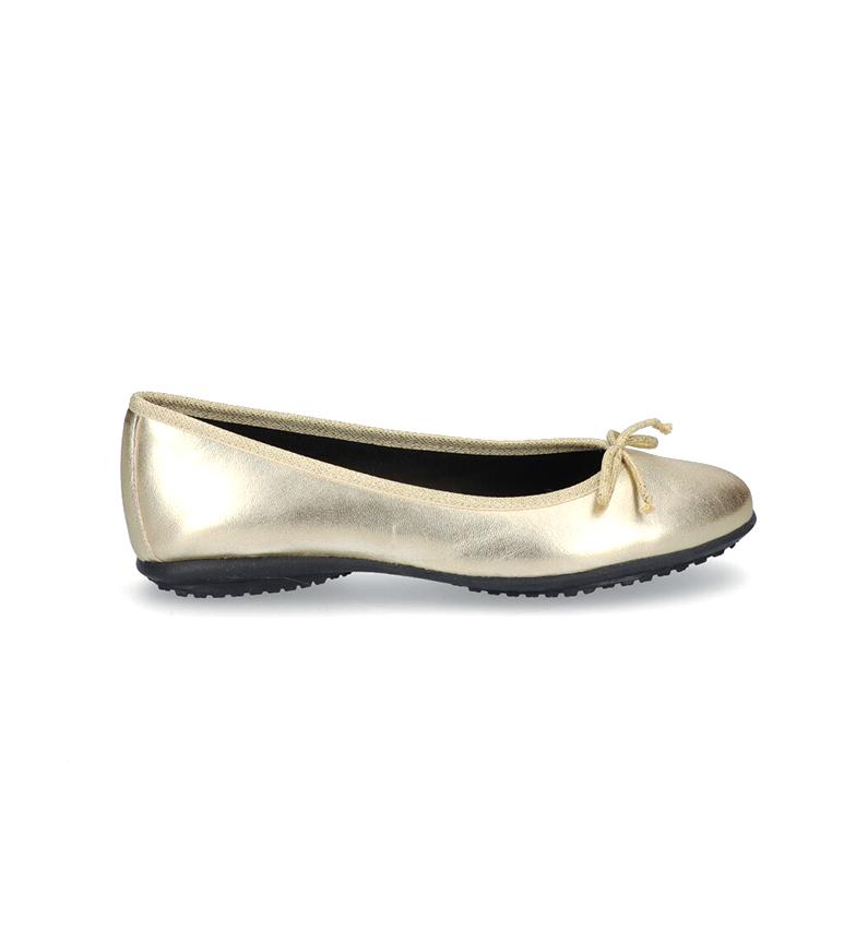 Comprar D´Chicas Leather ballet pumps 0570 gold