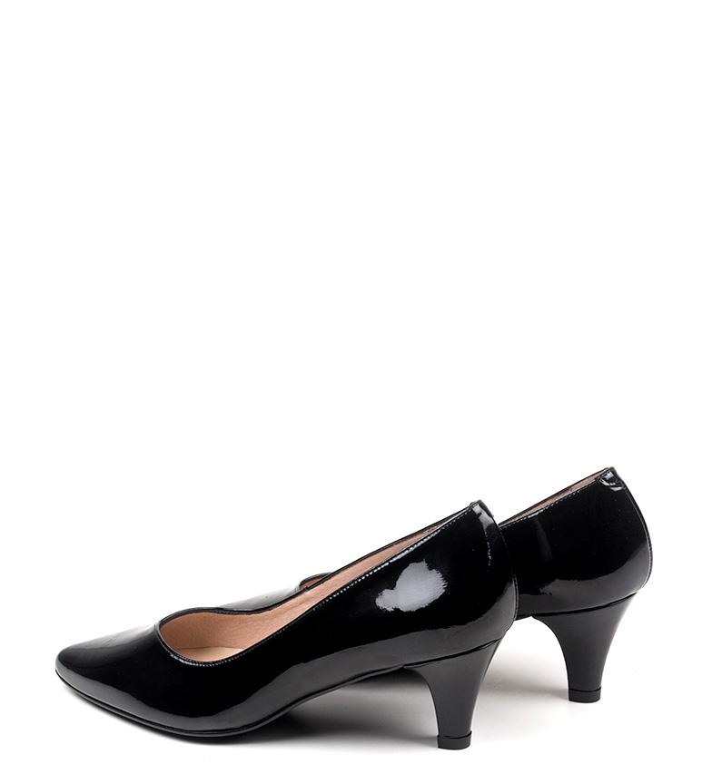 de tacón piel negro Altura D´Chicas 4 Zapatos Carisa cm 5 RYwqnw7g