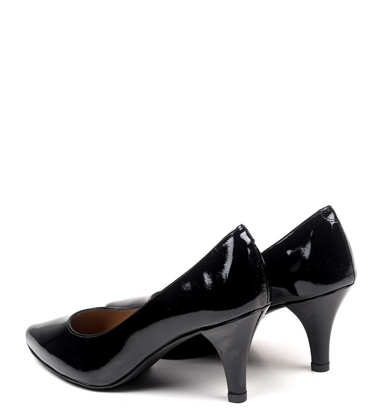 6 Zapatos Erlea negro piel D´Chicas cm de Altura tacón On6pnf0x