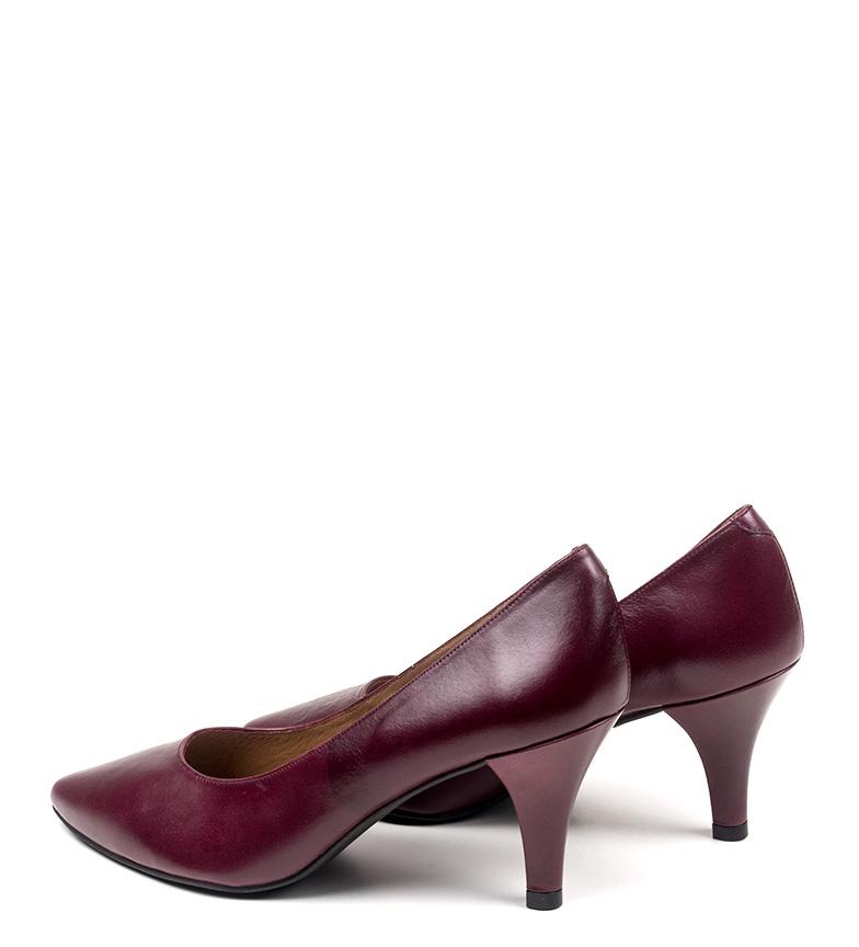 de Zapatos cm Altura D´Chicas tacón 6 Erlea piel burdeos qCx5xBnfSw