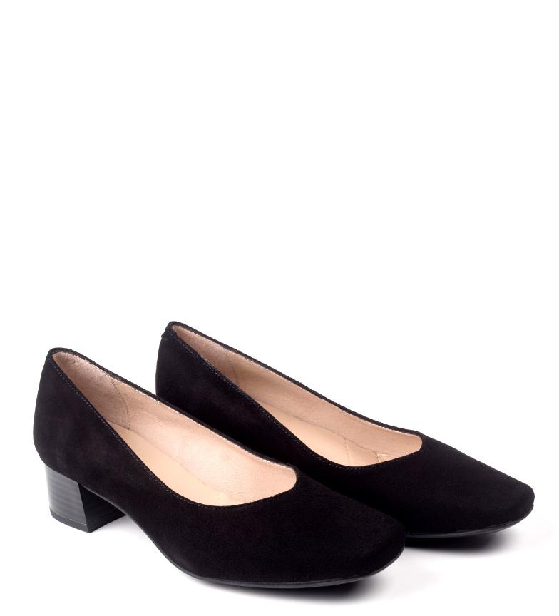 negro D´Chicas cm 3 Zapatos de tacón piel 5 Altura Mara TwaPUIqw