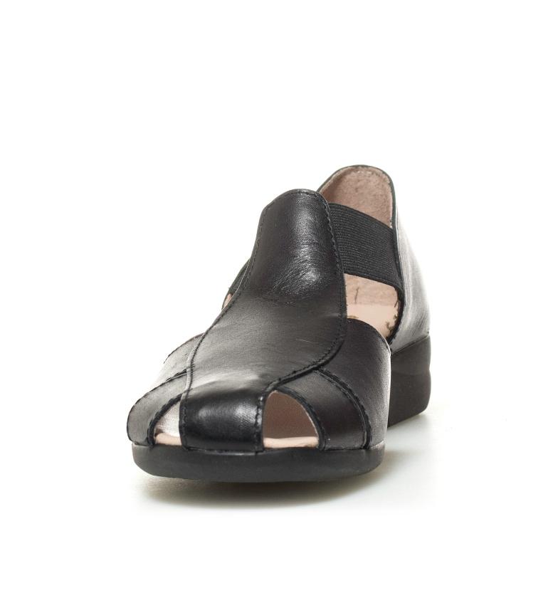 piel Altura 5cm Zapatos negro tacón Sina D´Chicas de 2 wqBxOUUC1