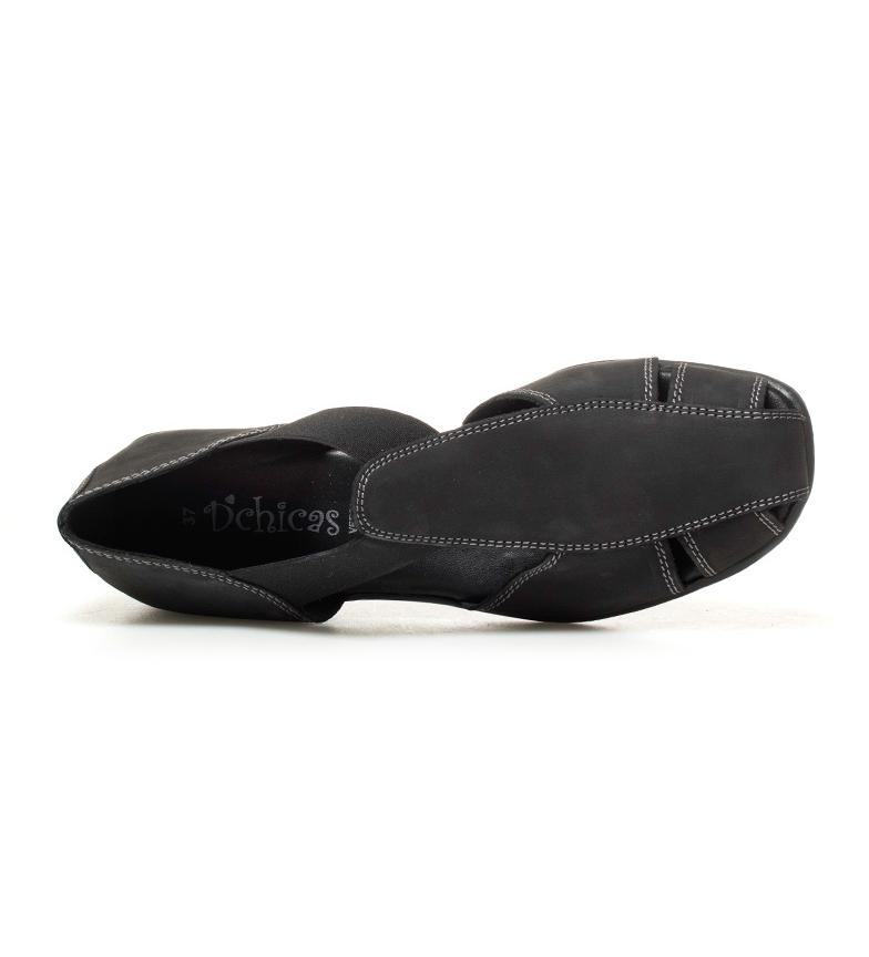 Altura negro de Zapatos D´Chicas nobuck Sina II 5cm 2 tacón piel xnRw4BwOWq