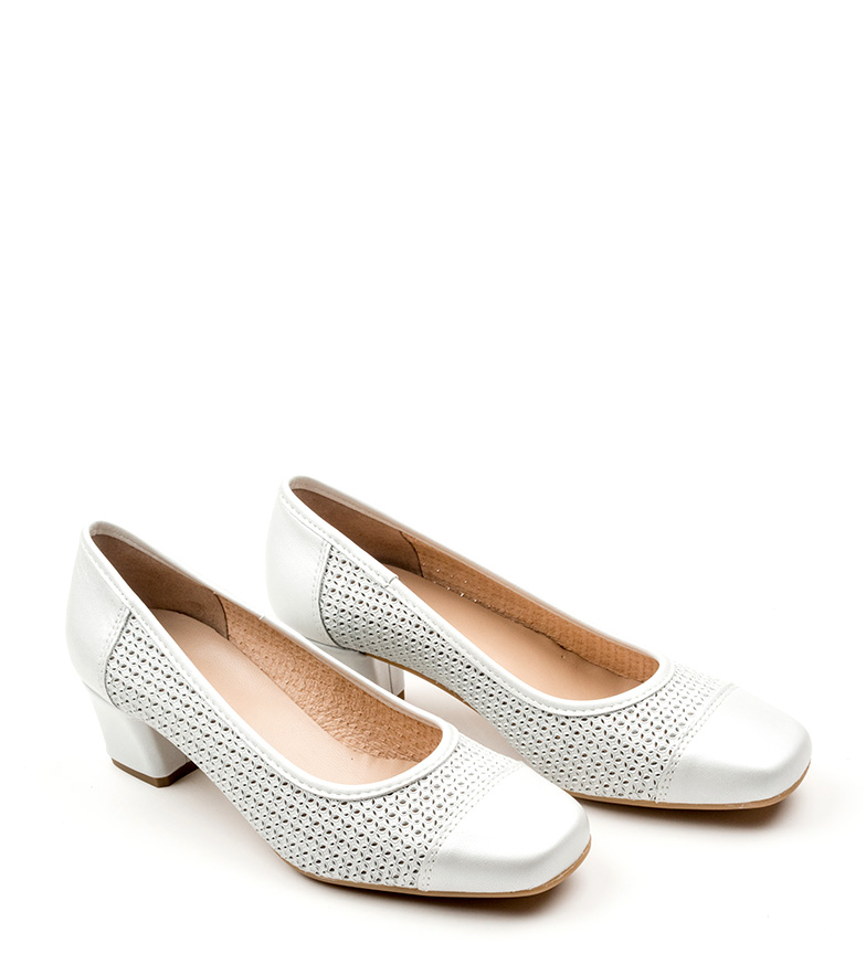 Zapatos Melan D´Chicas piel de D´Chicas blanco Zapatos piel de Melan X81Uq1