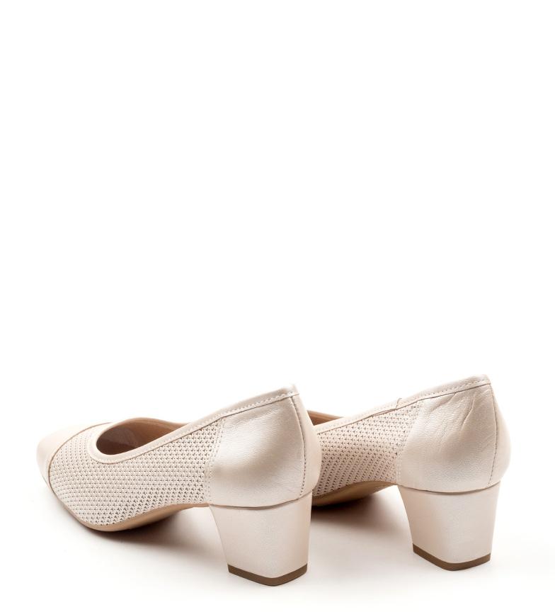 beige de D´Chicas Melan Zapatos piel 8TUwq0F