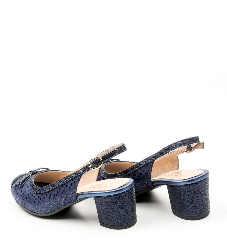 D´Chicas Zapatos de piel Lorna marino