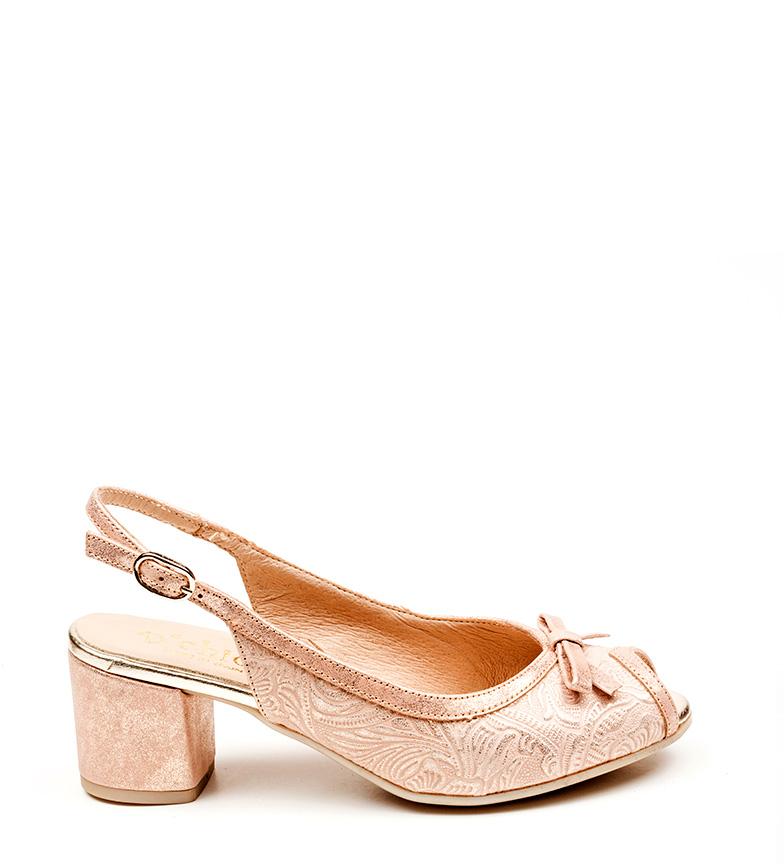 rosa D´Chicas piel Lorna oro de Zapatos wrrYXp8