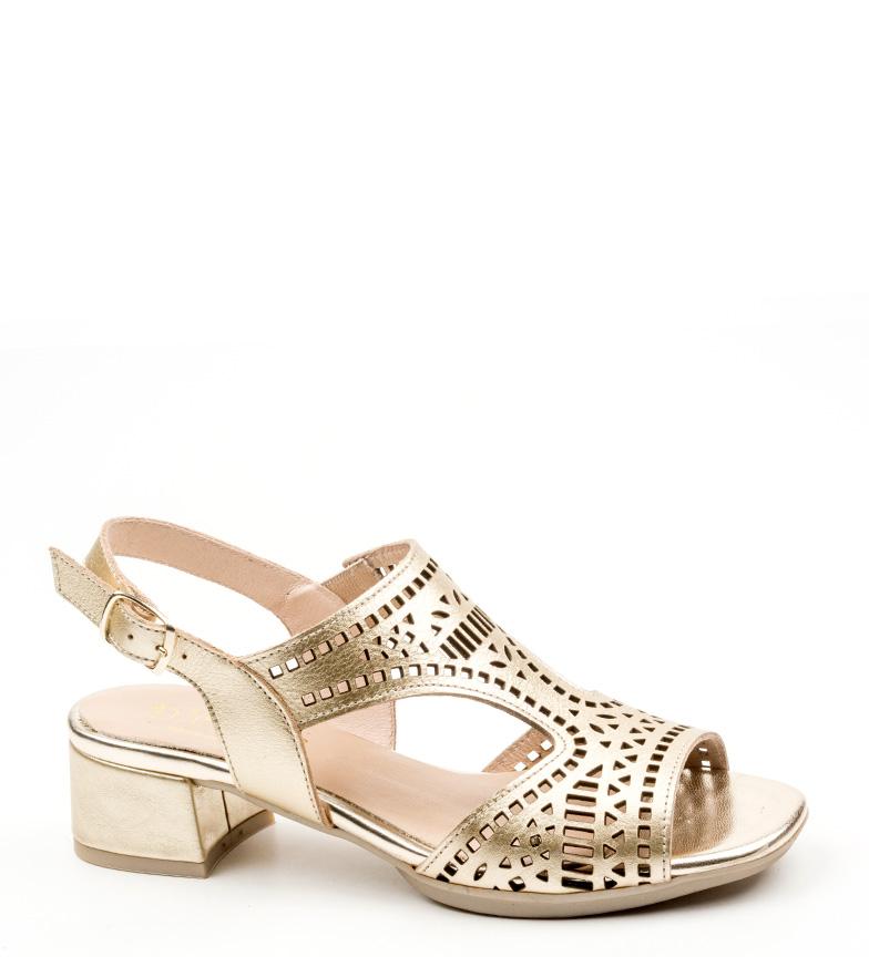 Comprar D´Chicas Sandalias de piel Mora oro