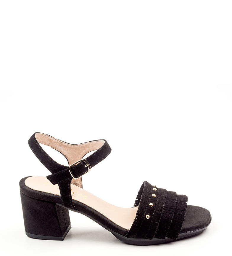 Comprar D´Chicas Black Greka leather sandals