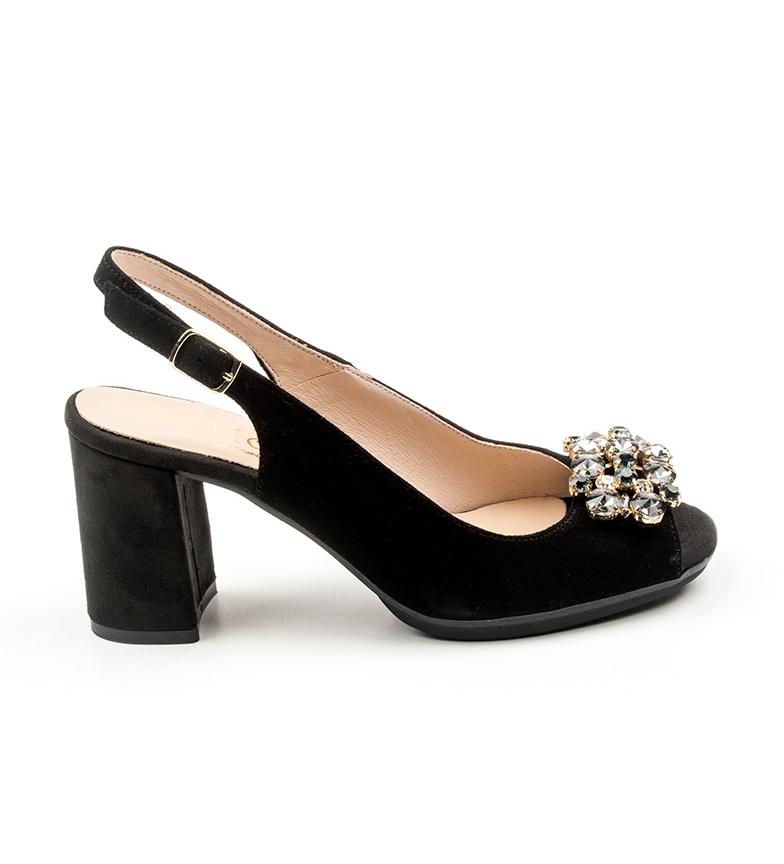 de D´Chicas Johane negro piel Zapatos 55qnrRw