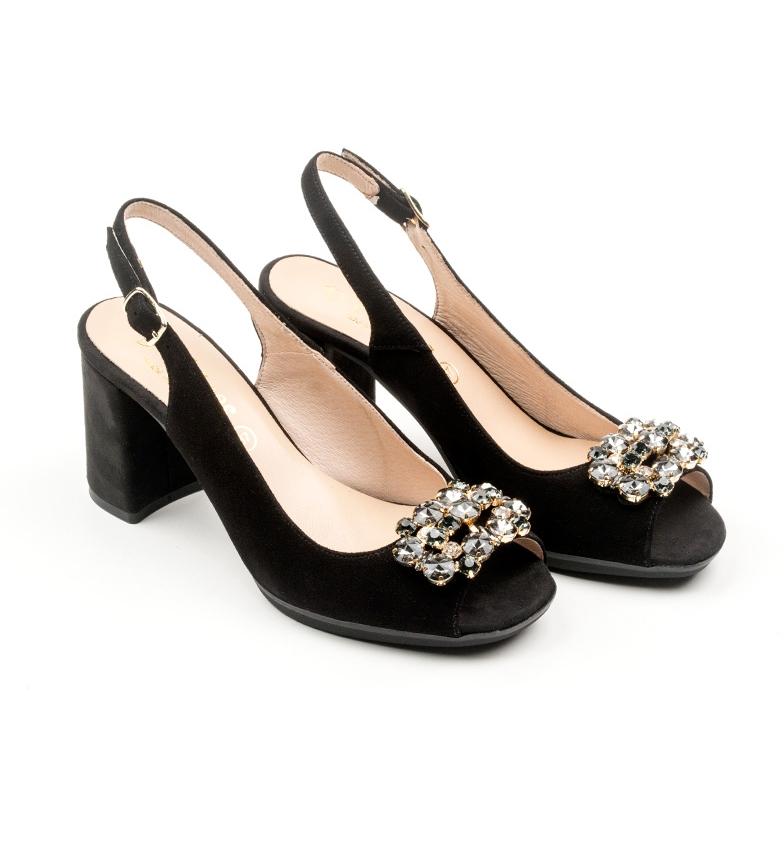 D´Chicas Zapatos de piel piel de Johane D´Chicas Zapatos Johane negro rTrOq5w