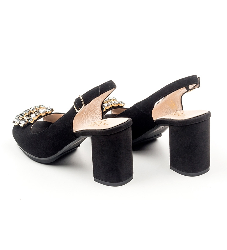 D´Chicas Zapatos de piel Johane negro