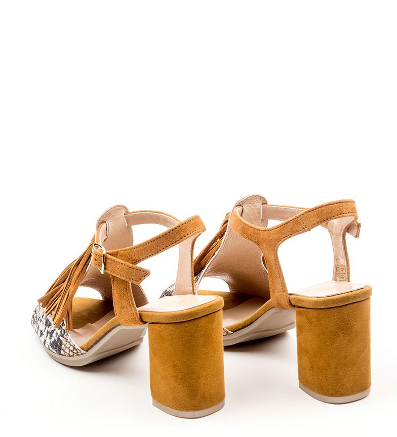 marrón piel de Sandalias Huma D´Chicas D´Chicas Sandalias YvTxHvP