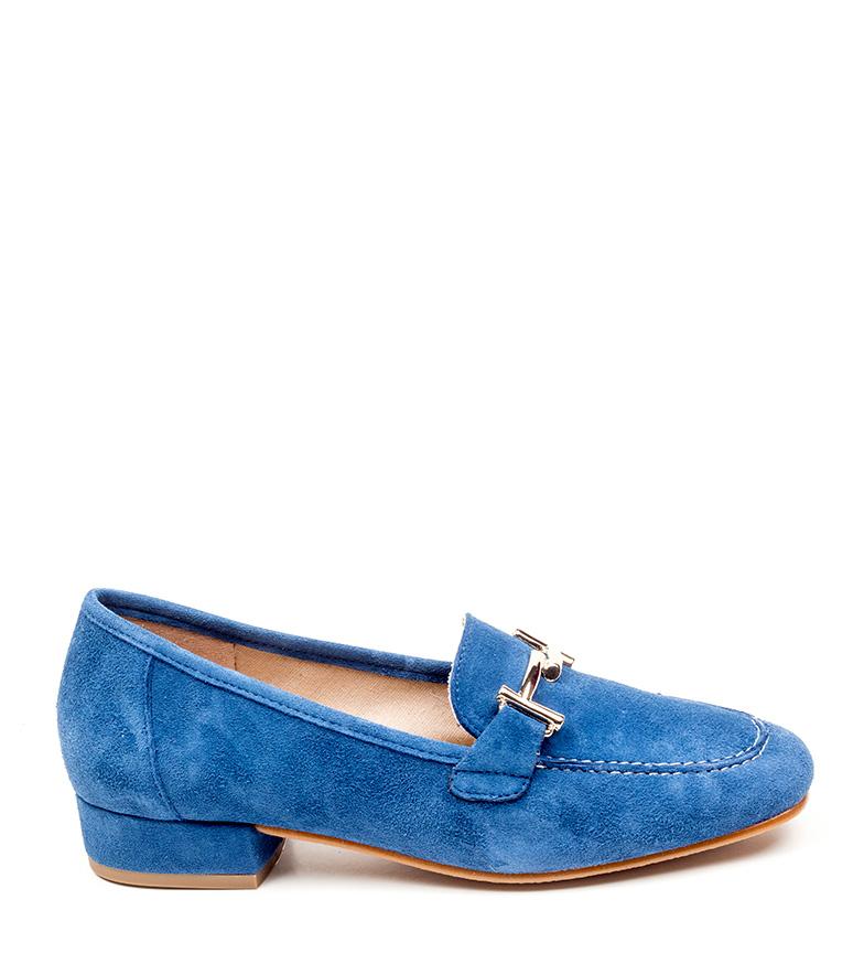 D´Chicas Zapatos de piel Albina azul