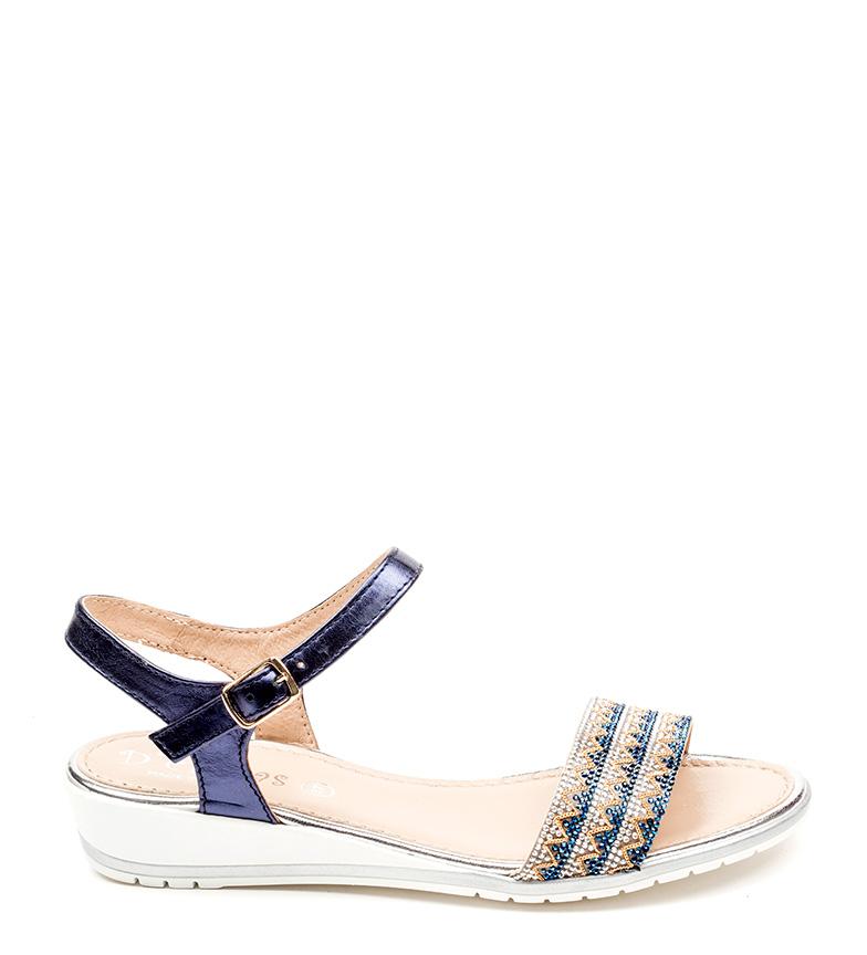 piel Sandalias azul D´Chicas de Crisa PFZywq8