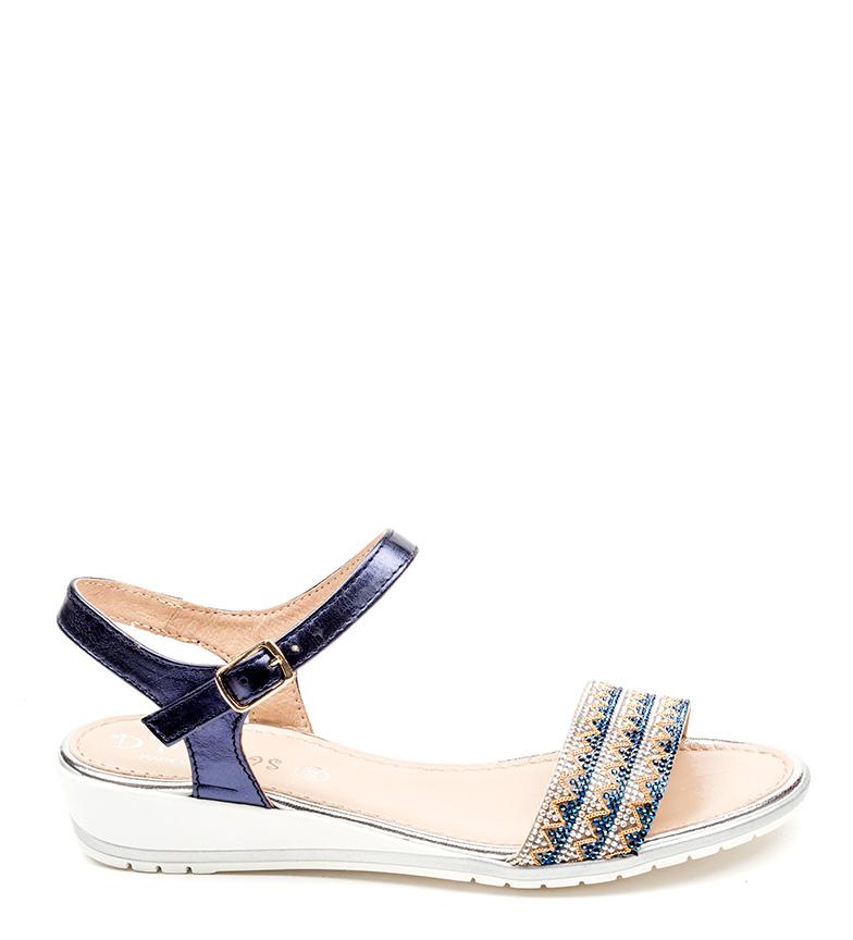D´Chicas Sandalias de piel Crisa azul