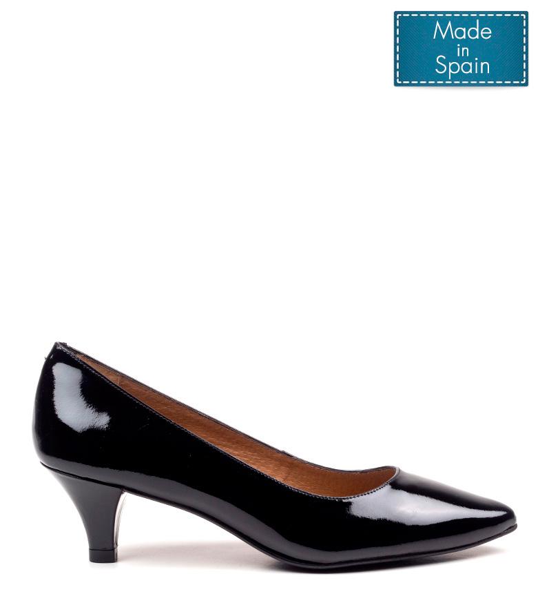 de Amira 5 Altura tacón piel negro cm 3 D´Chicas Zapatos Pqwx5BnqH