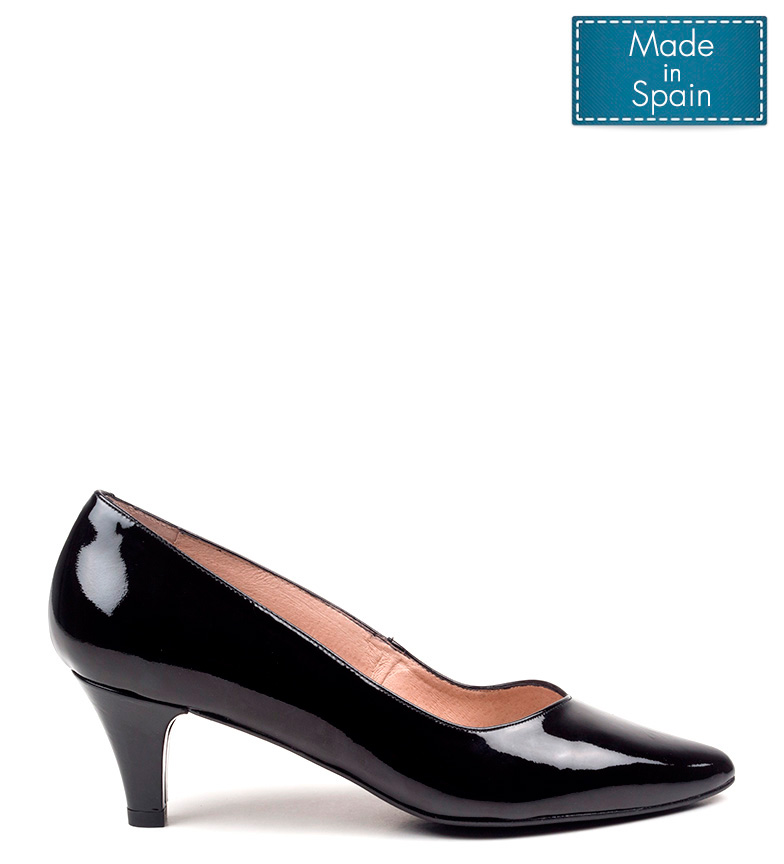 de 4 tacón Carisa 5 negro cm piel D´Chicas Altura Zapatos 5TnxSnw0F