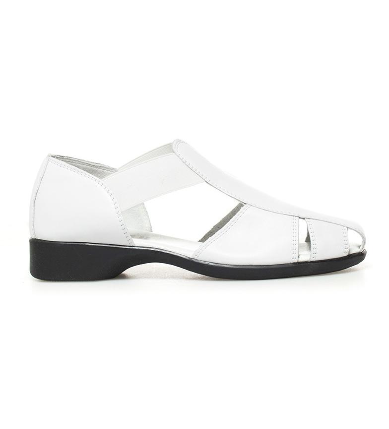 Sina 2 de tacón blanco piel 5cm Altura D´Chicas Zapatos tF0wZqZf
