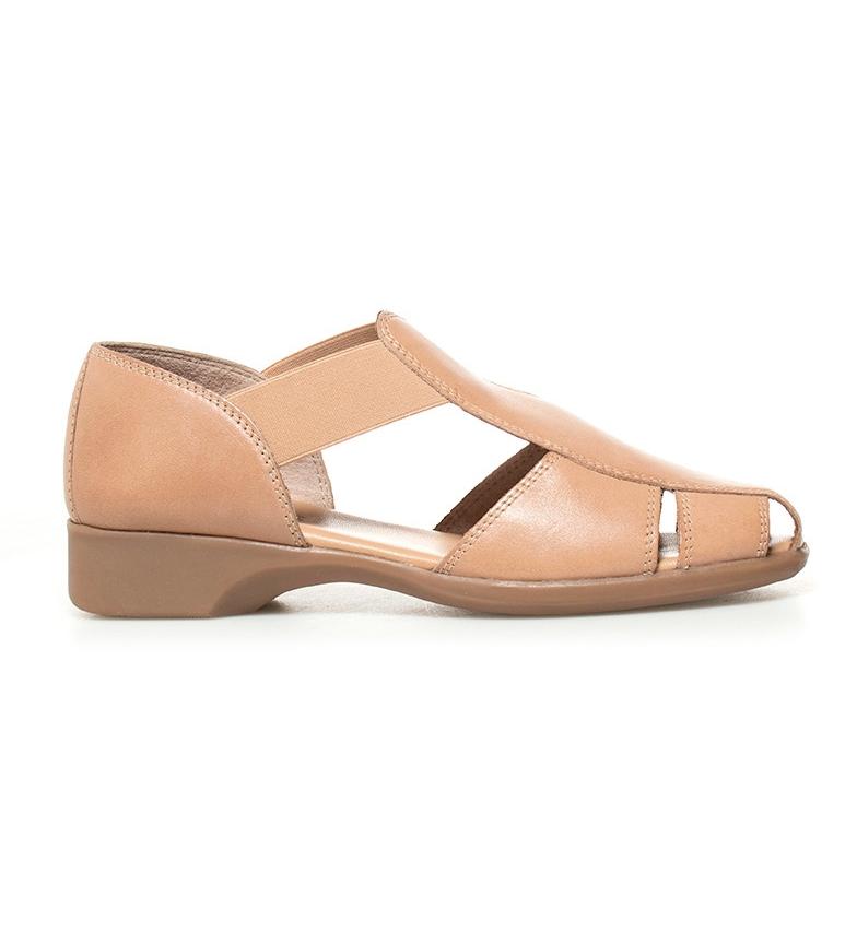 Comprar D´Chicas Sina chaussures en cuir de chameau talon -Hauteur: 2,5cm-