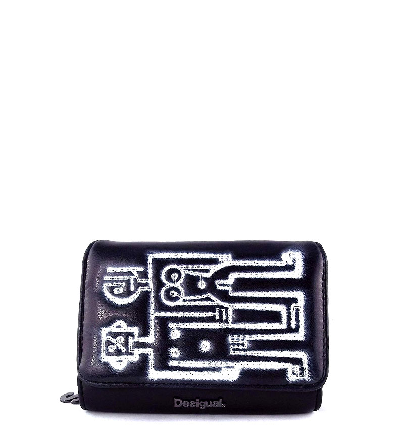 Comprar Desigual Portamonete robot nero -14x11x2,5cm-