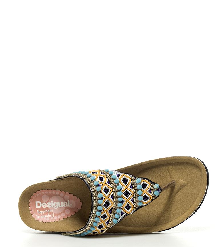 Tajmahal Fillete Sandaler Blå Perler, Svart