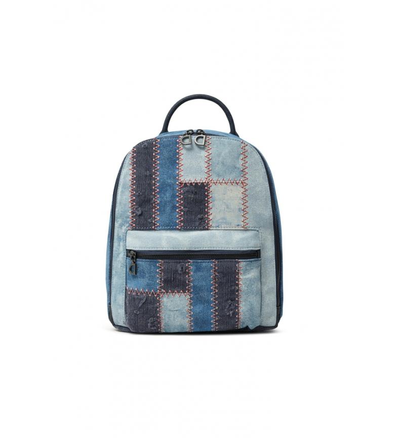 Comprar Desigual Backpack Patch Cowgirl blue -25,5x29x12,5cm