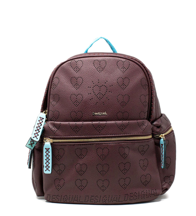 Comprar Desigual Backpack True Love Oss burgundy -23x31x16cm