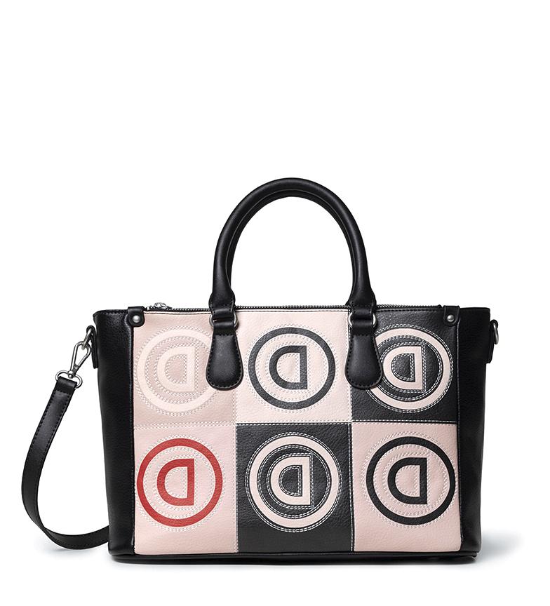 Comprar Desigual Safi Logo Patch Bag nera, beige