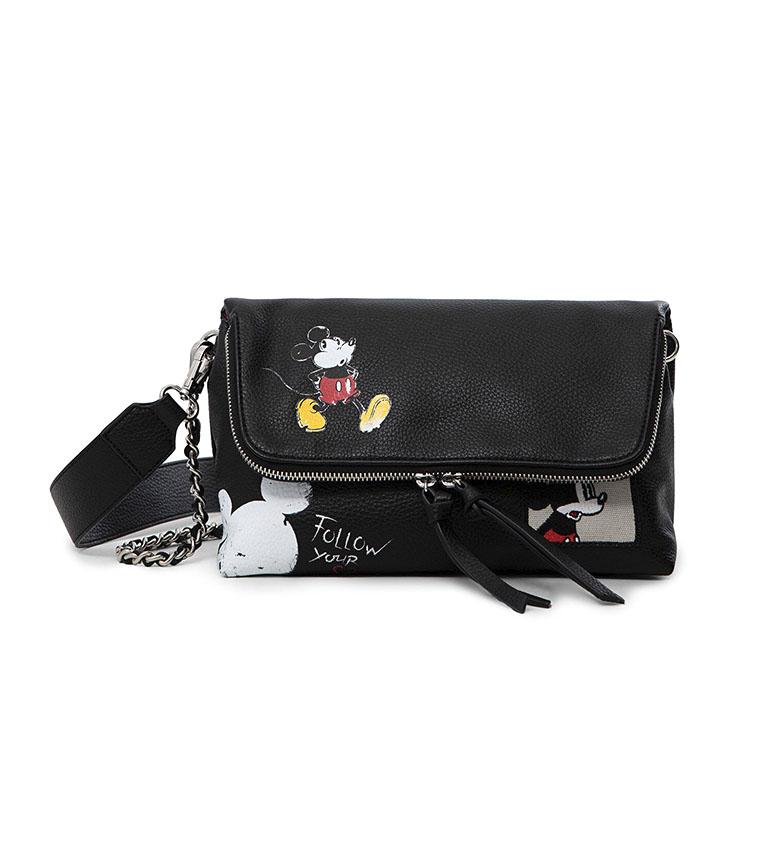 Comprar Desigual Mickey Mouse Mouse saco preto -25,5x12,6x12,6x13,5cm