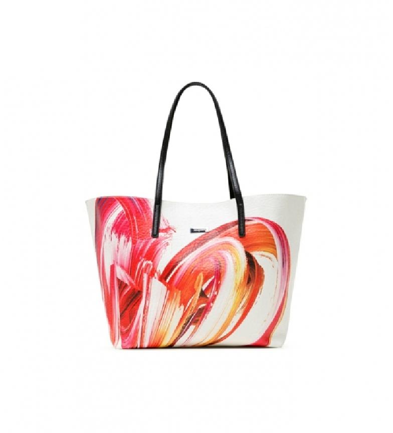 Comprar Desigual Saco reversível 3 em 1 saco branco, rosa, preto -31x12x29,5cm