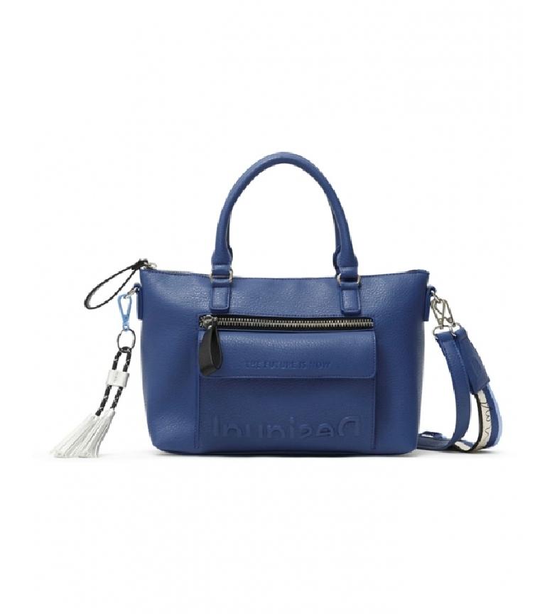 Comprar Desigual Sac à bandoulière Half Logo Half Logo bleu -29.4x12x22cm