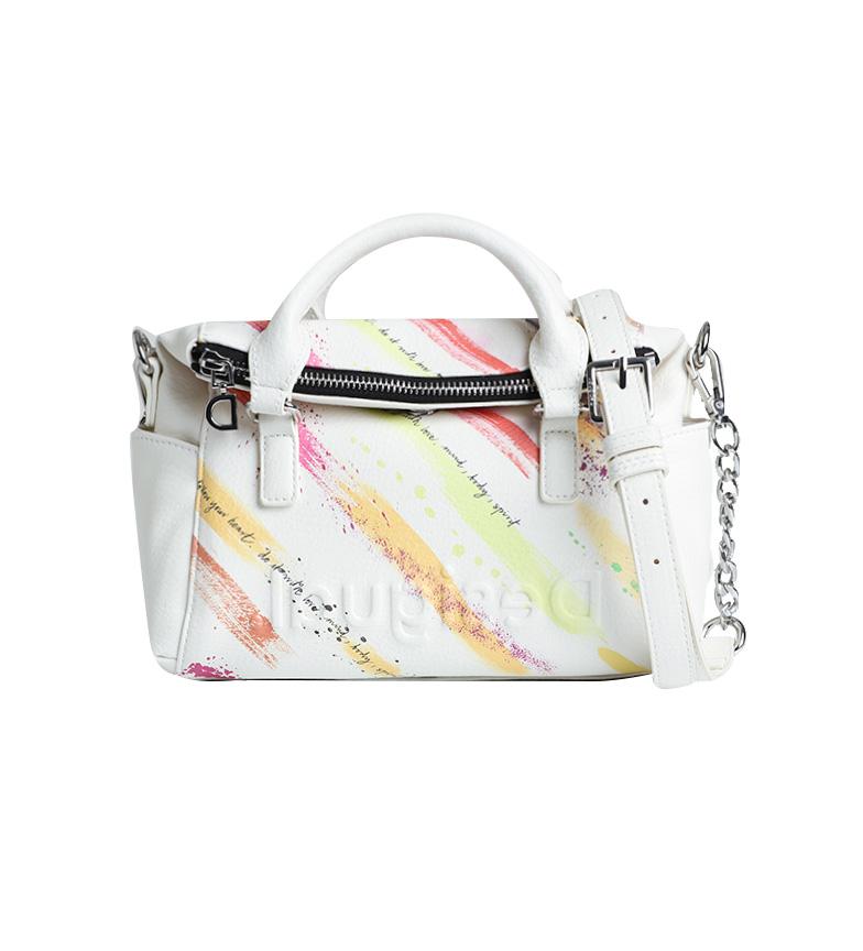 Desigual Mini Pincéis Loverty bag branco -?24,5x11x19cm