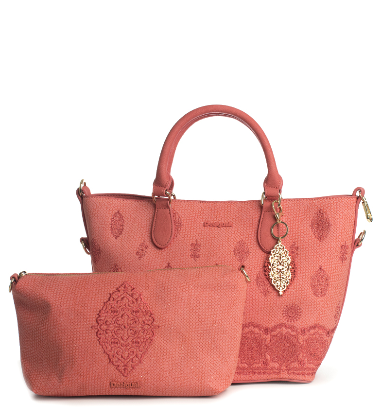 Comprar Desigual Paola Florida coral bag -28/38x16x24cm