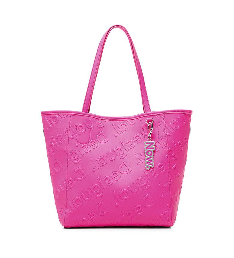 Comprar Desigual Borsa Shopping Rosa Logo -25,5x16x27,5cm-