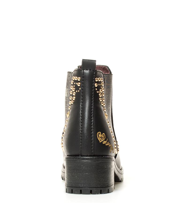 5cm tacón Botines Desigual Altura Blackstud Charly negro br br 0fqU8B0x