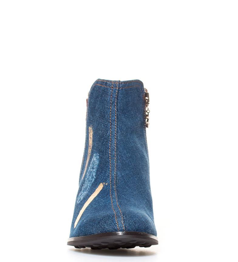 Ulik Land Støvler Denim Patch Hælhøyde: 6,5 Cm